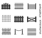 fence vector icons. simple...