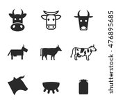 cow vector icons. simple...