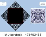 square cutout wedding... | Shutterstock .eps vector #476903455