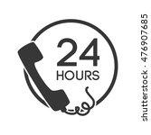 telephone serivce 24 hours... | Shutterstock .eps vector #476907685