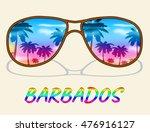 barbados vacation indicating... | Shutterstock . vector #476916127