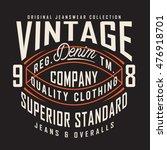 vintage denim typography  t...   Shutterstock .eps vector #476918701