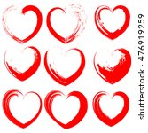 hearts icons set  white hand... | Shutterstock .eps vector #476919259
