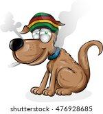 jamaican dog cartoon isolated...