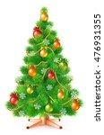 green fluffy christmas tree... | Shutterstock .eps vector #476931355