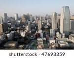 view of downtown tokyo from... | Shutterstock . vector #47693359