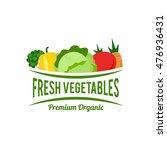 simple modern vegetable logo | Shutterstock .eps vector #476936431