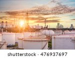 oil and gas industry   refinery ... | Shutterstock . vector #476937697