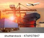 industrial container cargo... | Shutterstock . vector #476937847