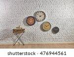 World Clock Modern Brick Walls...