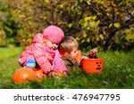 little boy and girl play with... | Shutterstock . vector #476947795