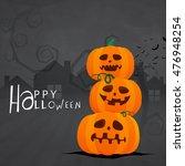 scary pumpkins  jack o lanterns ... | Shutterstock .eps vector #476948254