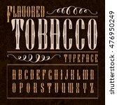 flavored tobacco label.... | Shutterstock .eps vector #476950249