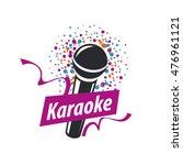 vector logo karaoke | Shutterstock .eps vector #476961121