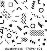 retro vintage 80s or 90s... | Shutterstock .eps vector #476964601