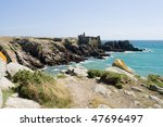 wildcoast of ile d'yeu in france | Shutterstock . vector #47696497