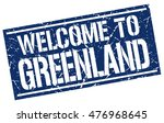 welcome to greenland stamp.... | Shutterstock .eps vector #476968645