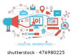 online digital marketing and... | Shutterstock .eps vector #476980225