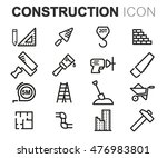 vector black line construction... | Shutterstock .eps vector #476983801