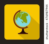 globe icon in flat style on a... | Shutterstock . vector #476987944
