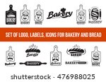 vector set of logo bakery. web... | Shutterstock .eps vector #476988025