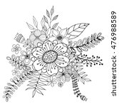 flower doodle vector  coloring... | Shutterstock .eps vector #476988589