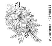 flower doodle vector  coloring... | Shutterstock .eps vector #476988595