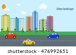 modern city view. cityscape... | Shutterstock .eps vector #476992651