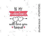 happy valentines day | Shutterstock .eps vector #476993581