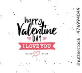 happy valentines day | Shutterstock .eps vector #476994049