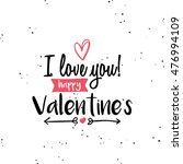 happy valentines day | Shutterstock .eps vector #476994109