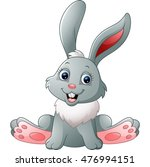cute little bunny sitting | Shutterstock . vector #476994151