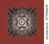 damask background pattern...   Shutterstock .eps vector #477000649