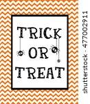 happy halloween card design.... | Shutterstock .eps vector #477002911
