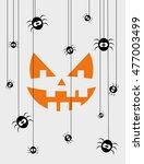 happy halloween card design.... | Shutterstock .eps vector #477003499