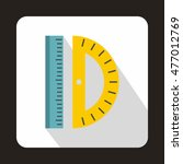 ruler and protractor icon in... | Shutterstock . vector #477012769