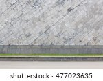 gray stone wall background wich ... | Shutterstock . vector #477023635