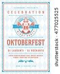 oktoberfest beer festival...   Shutterstock .eps vector #477025525