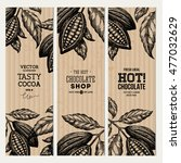 cocoa bean tree banner... | Shutterstock .eps vector #477032629