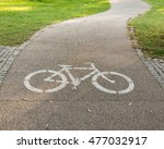 Bicycle path. bicycle symbol on ...