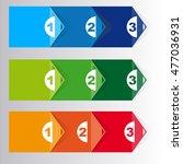 set of three version  vector... | Shutterstock .eps vector #477036931