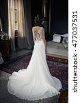 Long White Bridal Dress On The...