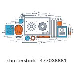 engineering and architecture.... | Shutterstock . vector #477038881