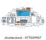 programming coding. flat... | Shutterstock . vector #477039907