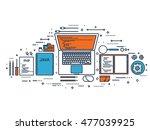 programming coding. flat... | Shutterstock . vector #477039925
