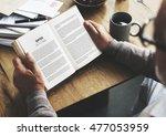 coffee break reading travel... | Shutterstock . vector #477053959