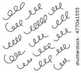 set of doodling spirals   Shutterstock .eps vector #477061555