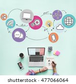 internet network communication... | Shutterstock . vector #477066064