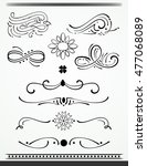 calligraphic design elements... | Shutterstock .eps vector #477068089