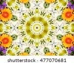flower kaleidoscope | Shutterstock . vector #477070681